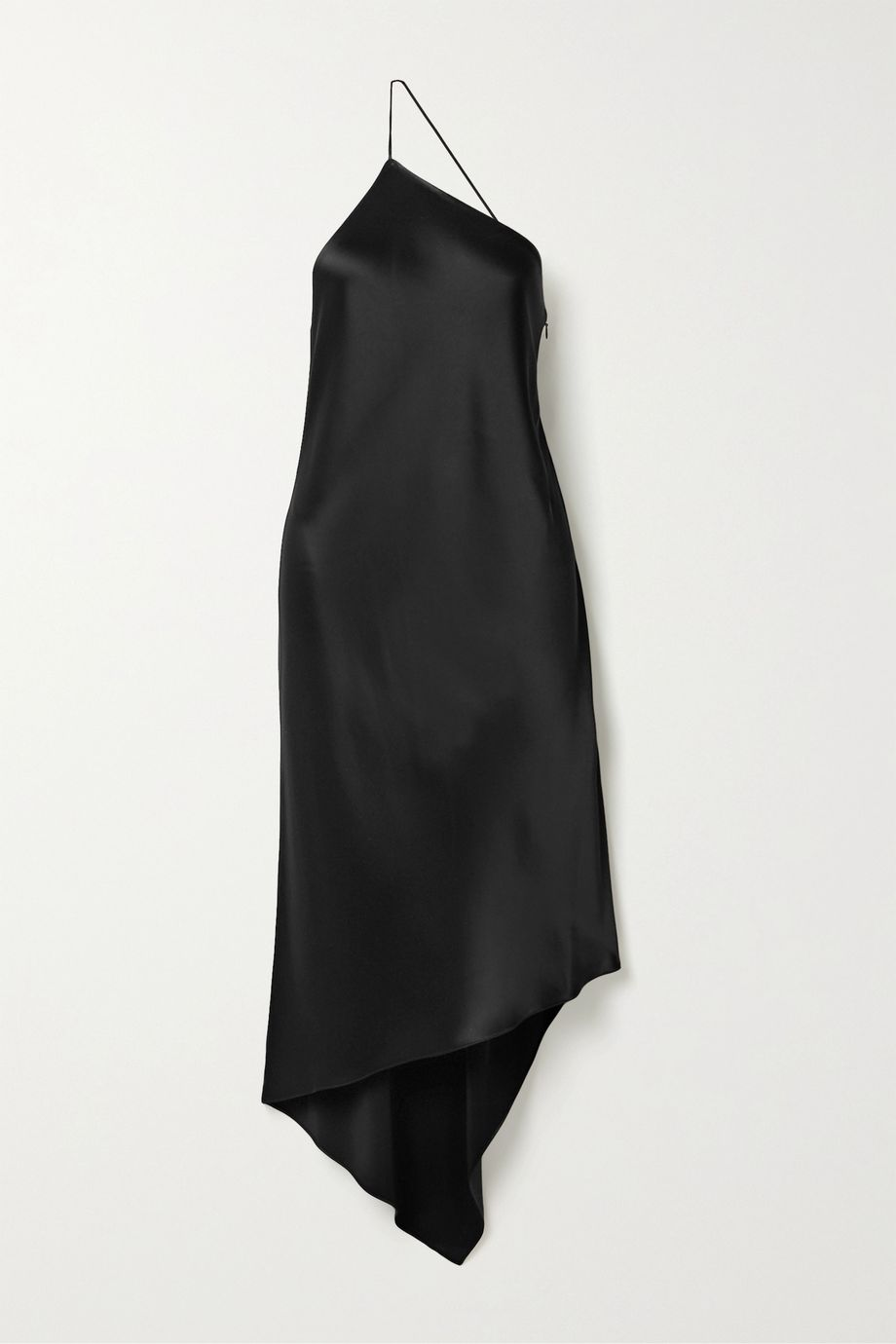 Deveaux Guinevere asymmetric one-shoulder satin dress