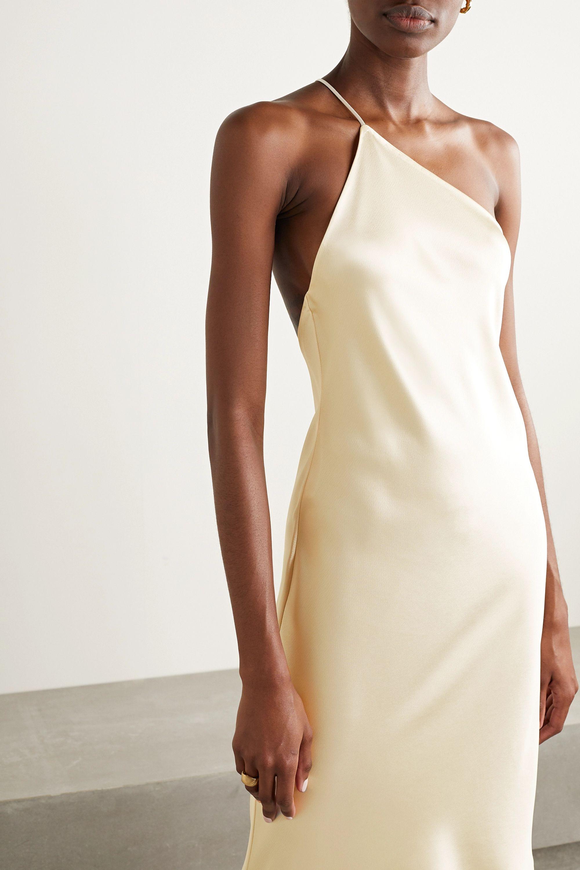 Deveaux Guinevere one-shoulder satin dress
