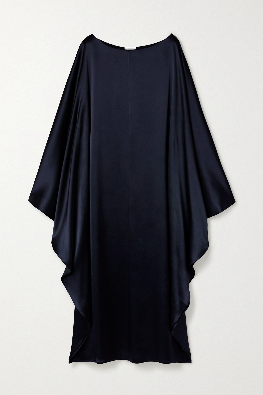 Deveaux Astrid hammered-satin maxi dress