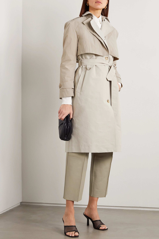 Deveaux Ramya cotton-blend trench coat