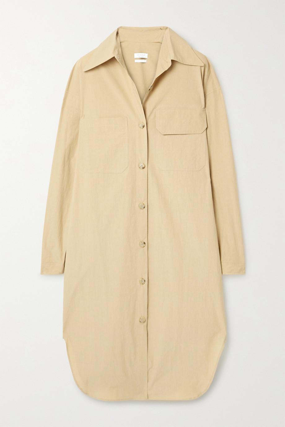 Deveaux Shiloh oversized cotton-poplin shirt dress