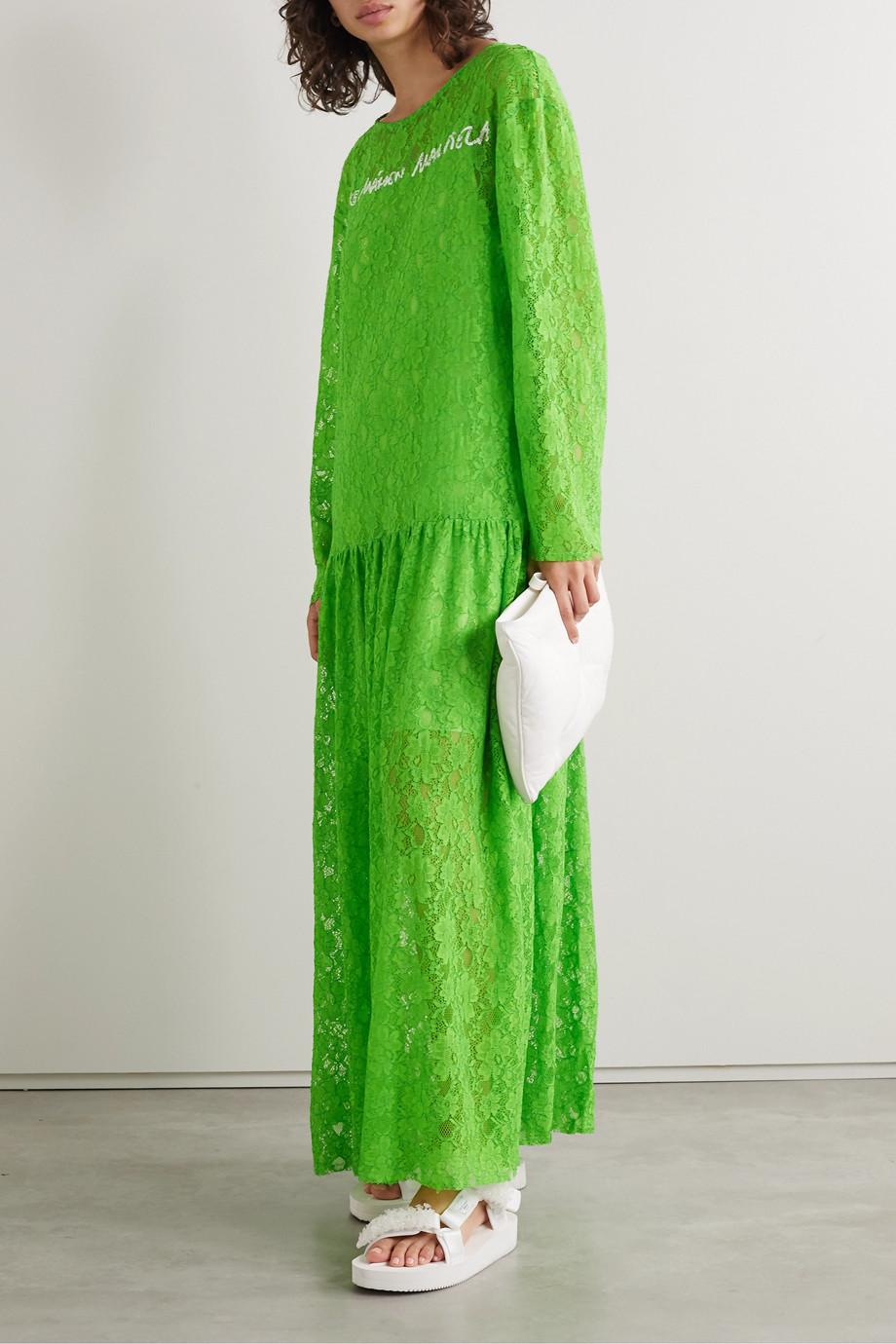 MM6 Maison Margiela Oversized printed corded lace maxi dress