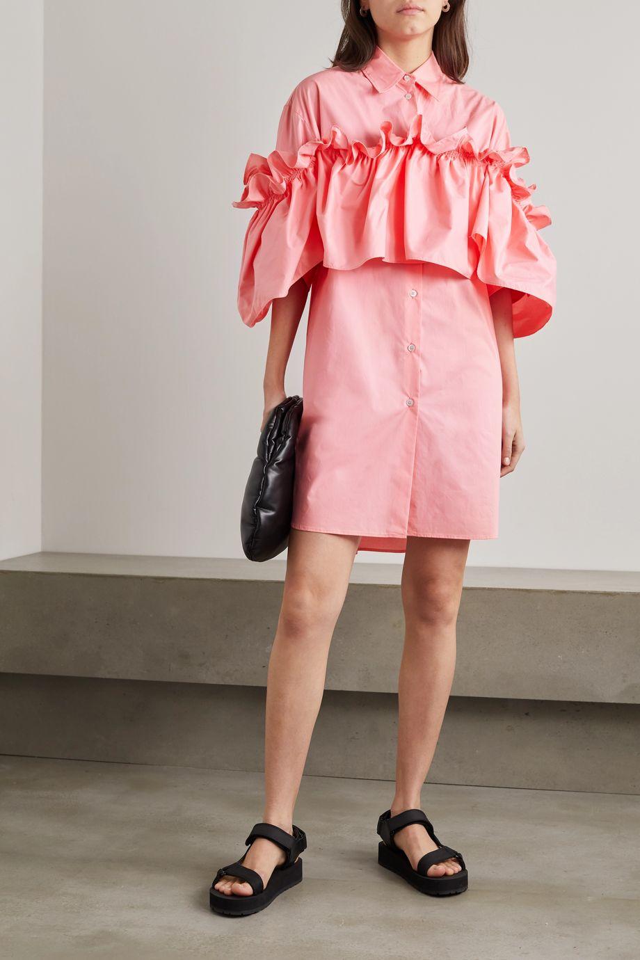MM6 Maison Margiela Ruffled cotton mini shirt dress