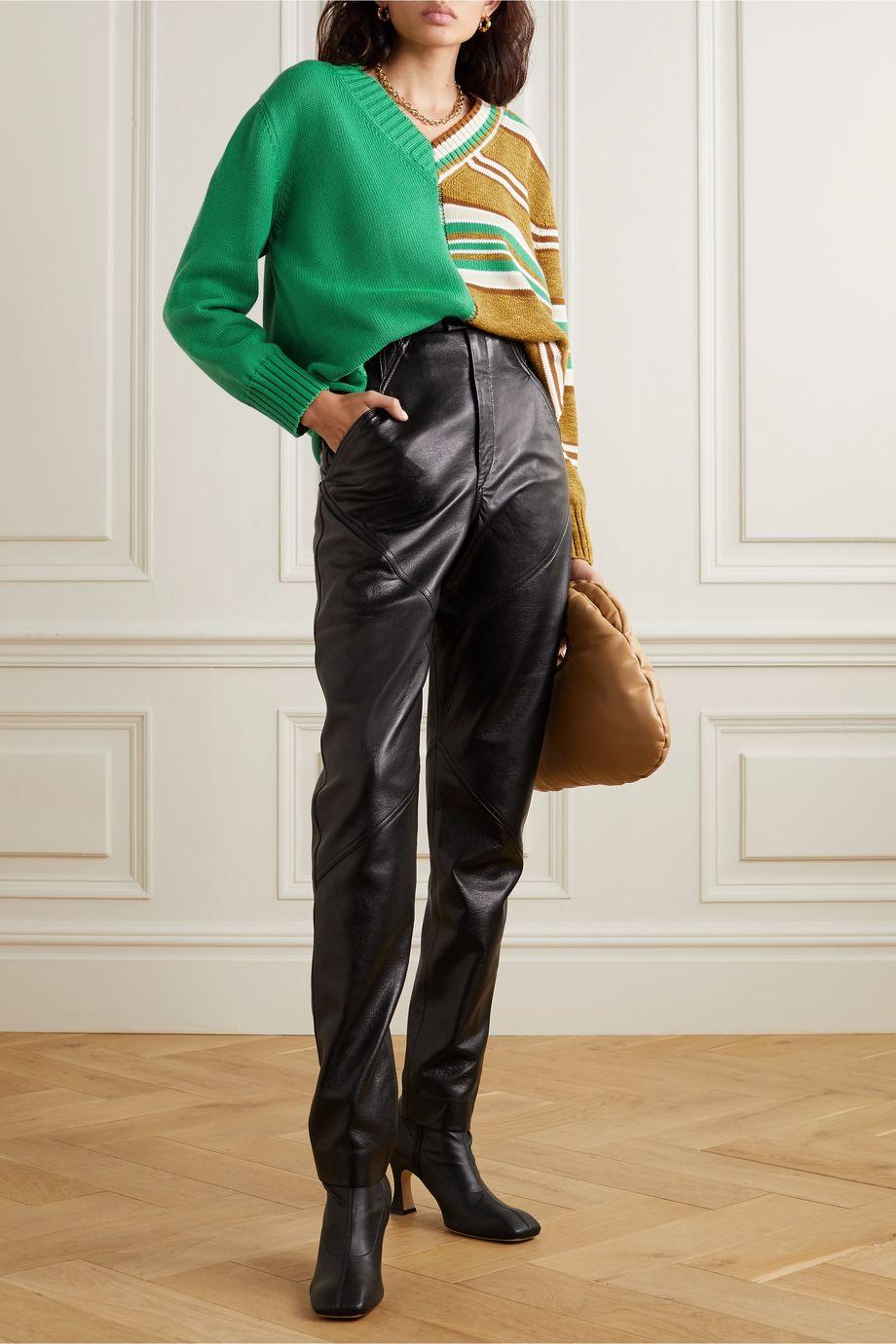 MM6 Maison Margiela Pullover aus Baumwolle mit Streifen