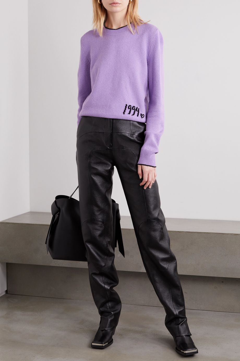 MM6 Maison Margiela Embroidered knitted sweater