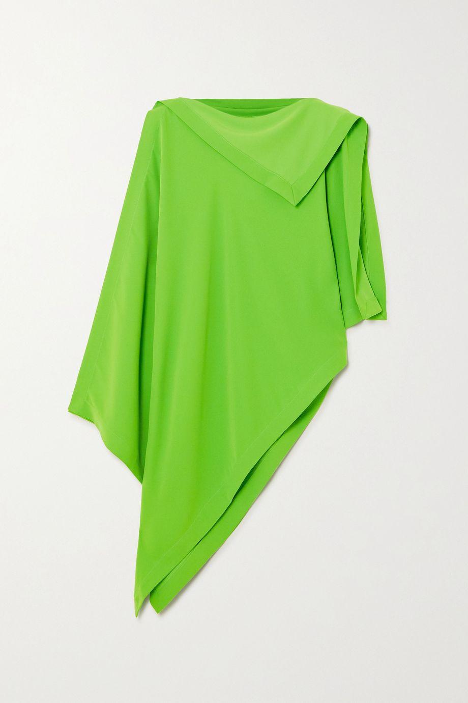MM6 Maison Margiela Asymmetric draped crepe top