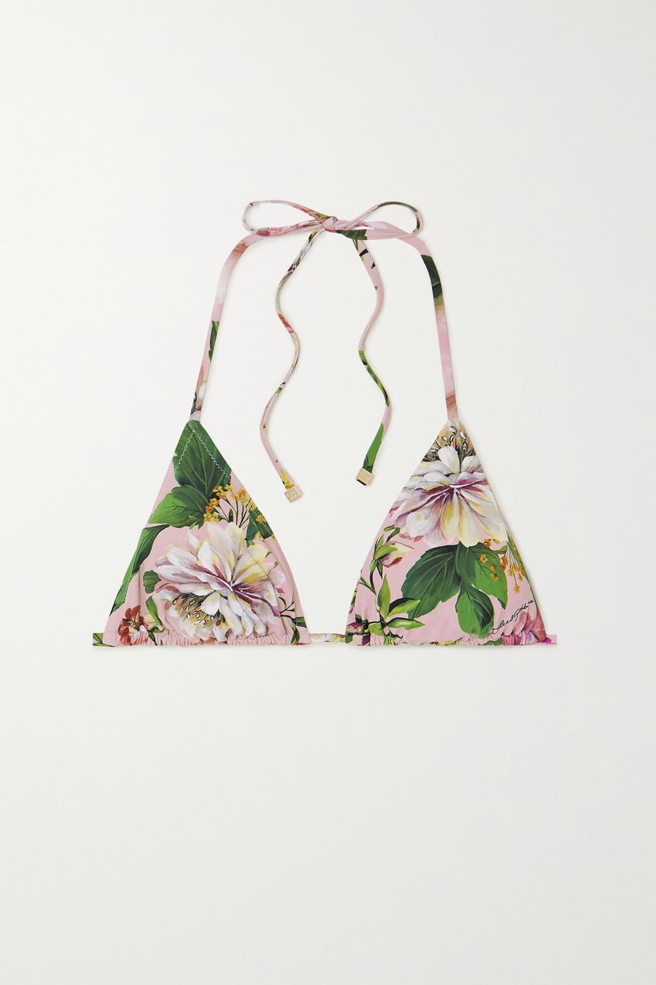 Dolce & Gabbana Triangel-Bikini-Oberteil mit Blumenprint
