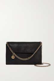 Stella McCartney The Falabella mini vegetarian brushed-leather shoulder bag