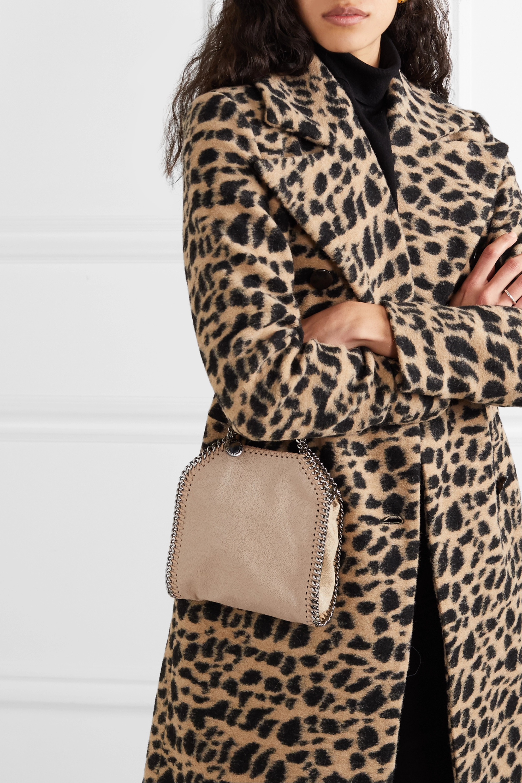 Stella McCartney The Falabella tiny faux brushed-leather shoulder bag