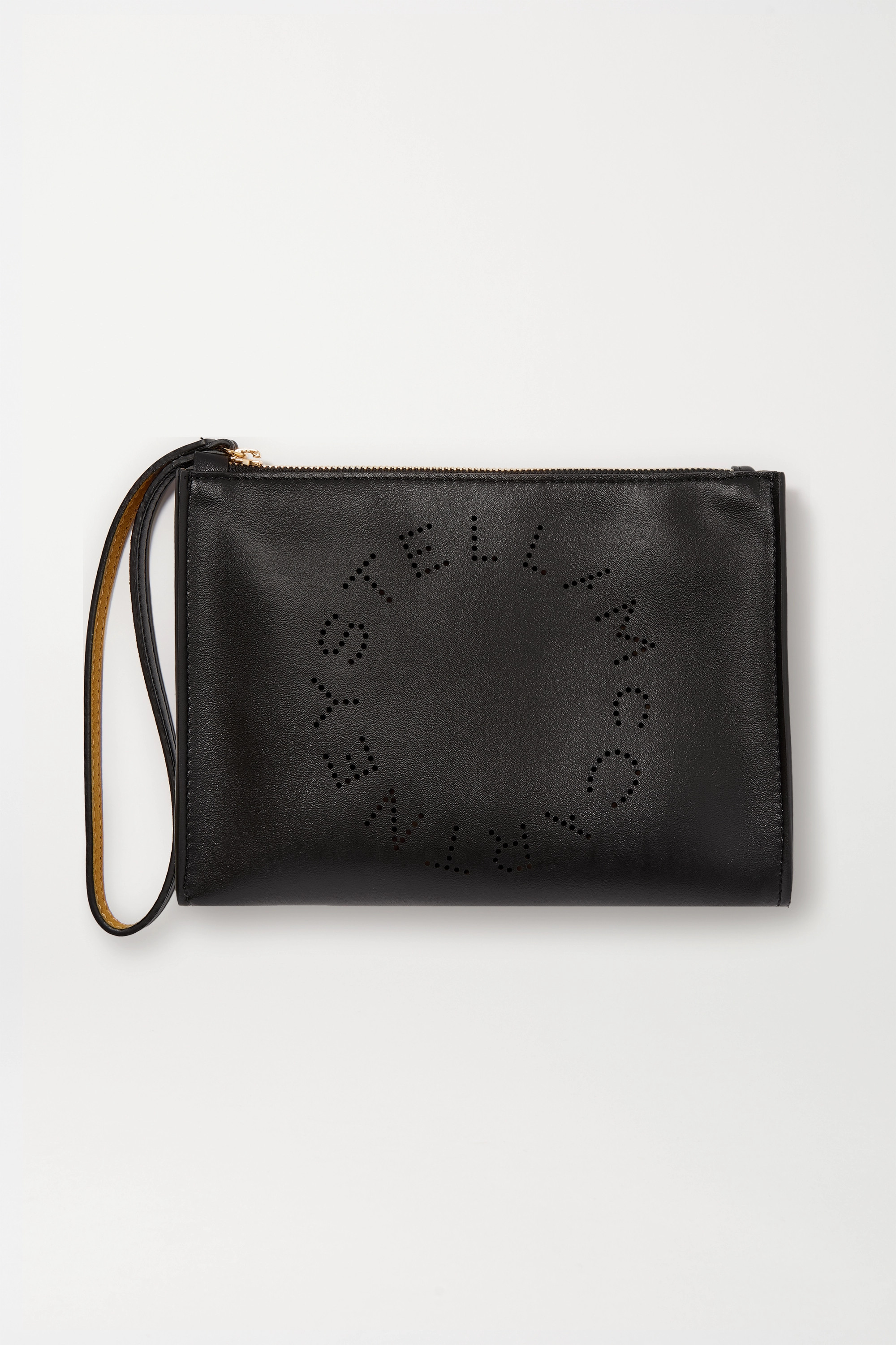 Stella McCartney Perforated vegetarian leather pouch