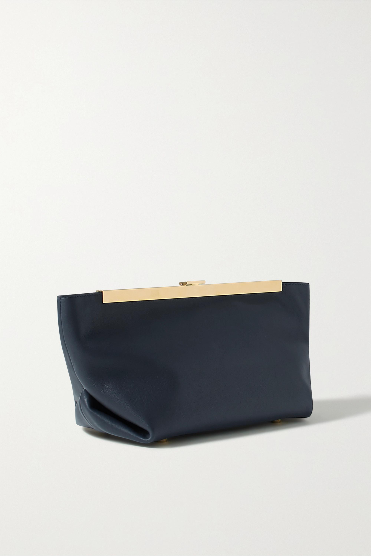 Khaite Envelope Pleat leather clutch
