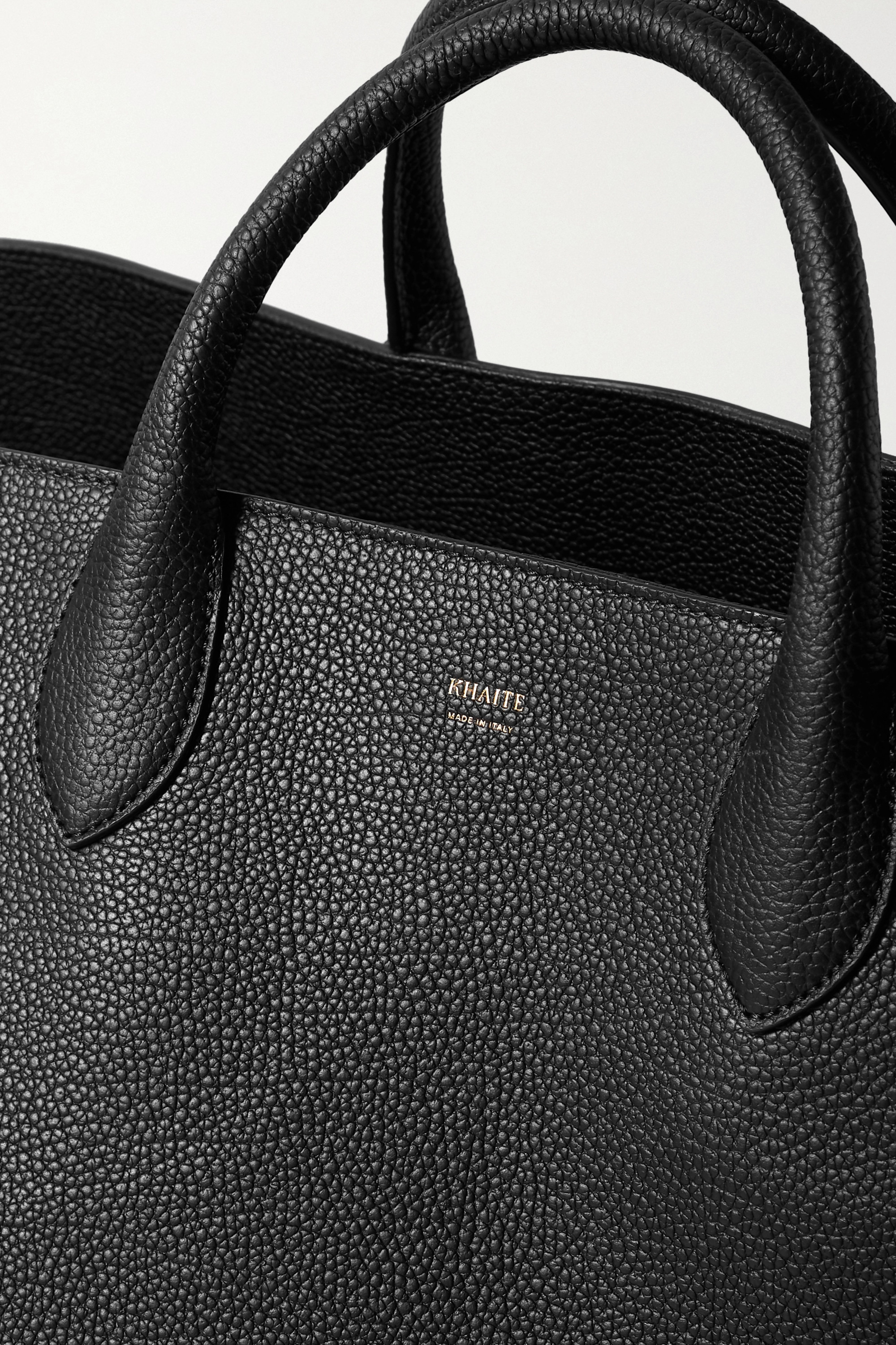 Khaite Envelope Pleat large textured-leather tote