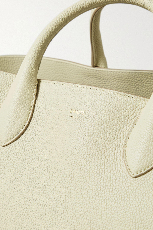 Khaite Envelope Pleat medium textured-leather tote