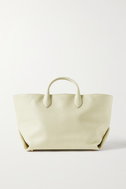 Envelope Pleat medium textured-leather tote