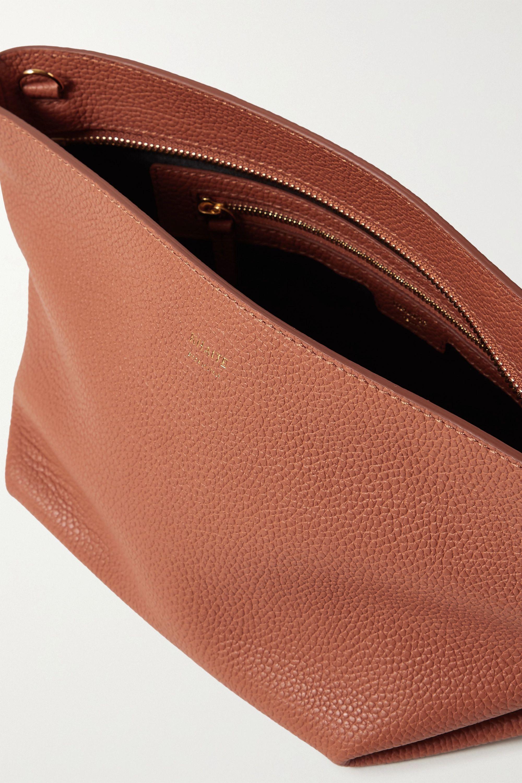 Khaite Envelope Pleat 纹理皮革单肩包