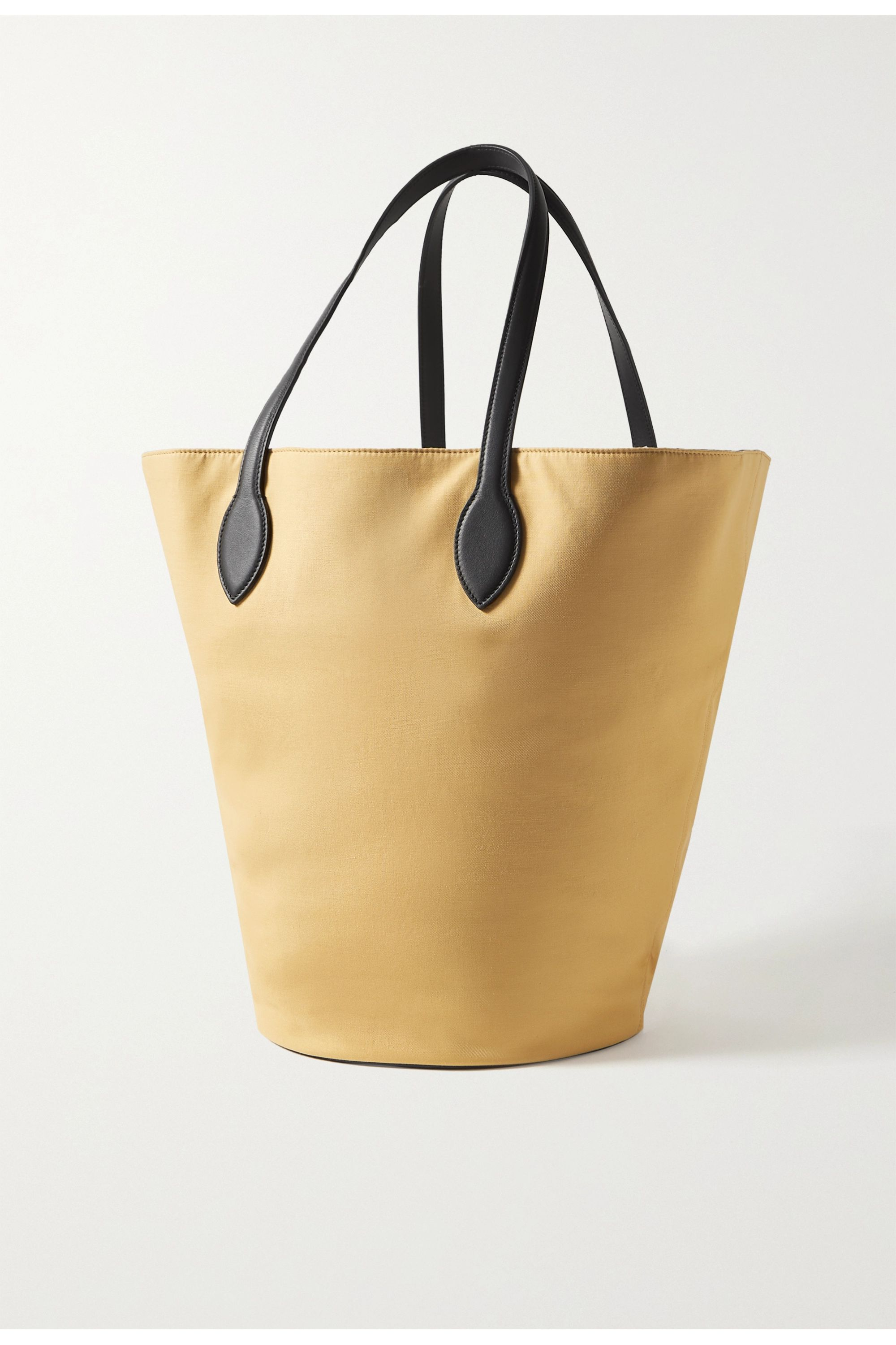 Khaite Circle medium leather-trimmed canvas tote