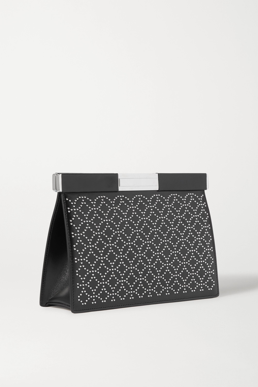 Alaïa Cecile studded leather clutch