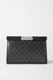 Alaïa Cecile studded leather clutch