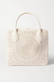 Alaïa Elga large studded laser-cut leather tote
