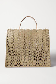 Alaïa Garance large elaphe-trimmed laser-cut faux leather tote