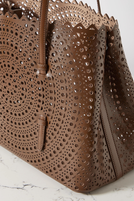 Alaïa Mina medium laser-cut leather tote