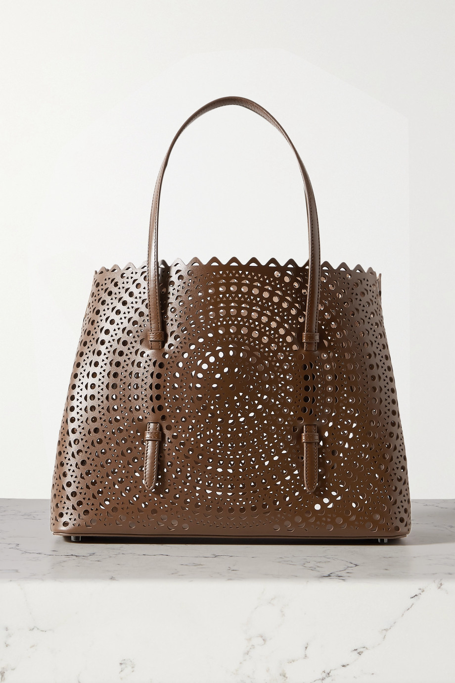 Alaïa Mina medium laser-cut leather tote