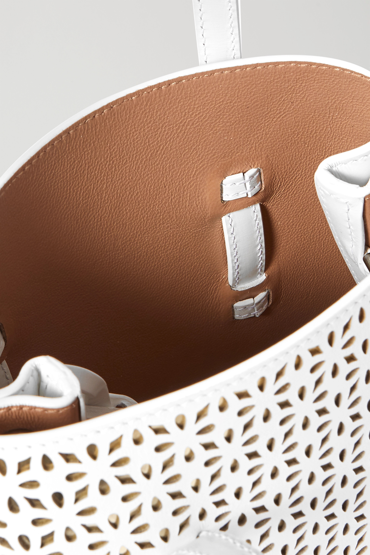 Alaïa Mina mini laser-cut leather tote