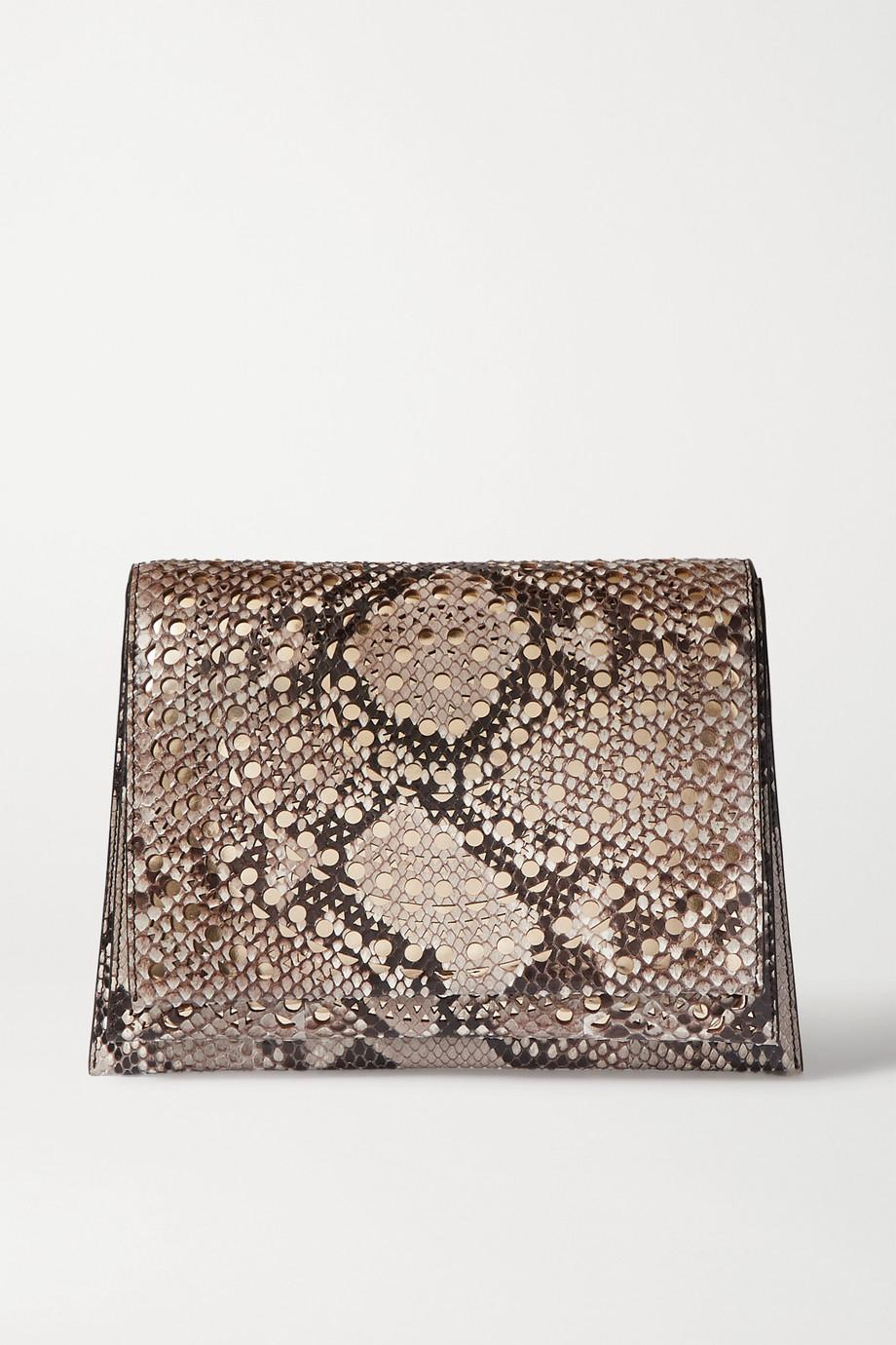 Alaïa Renee laser-cut python clutch