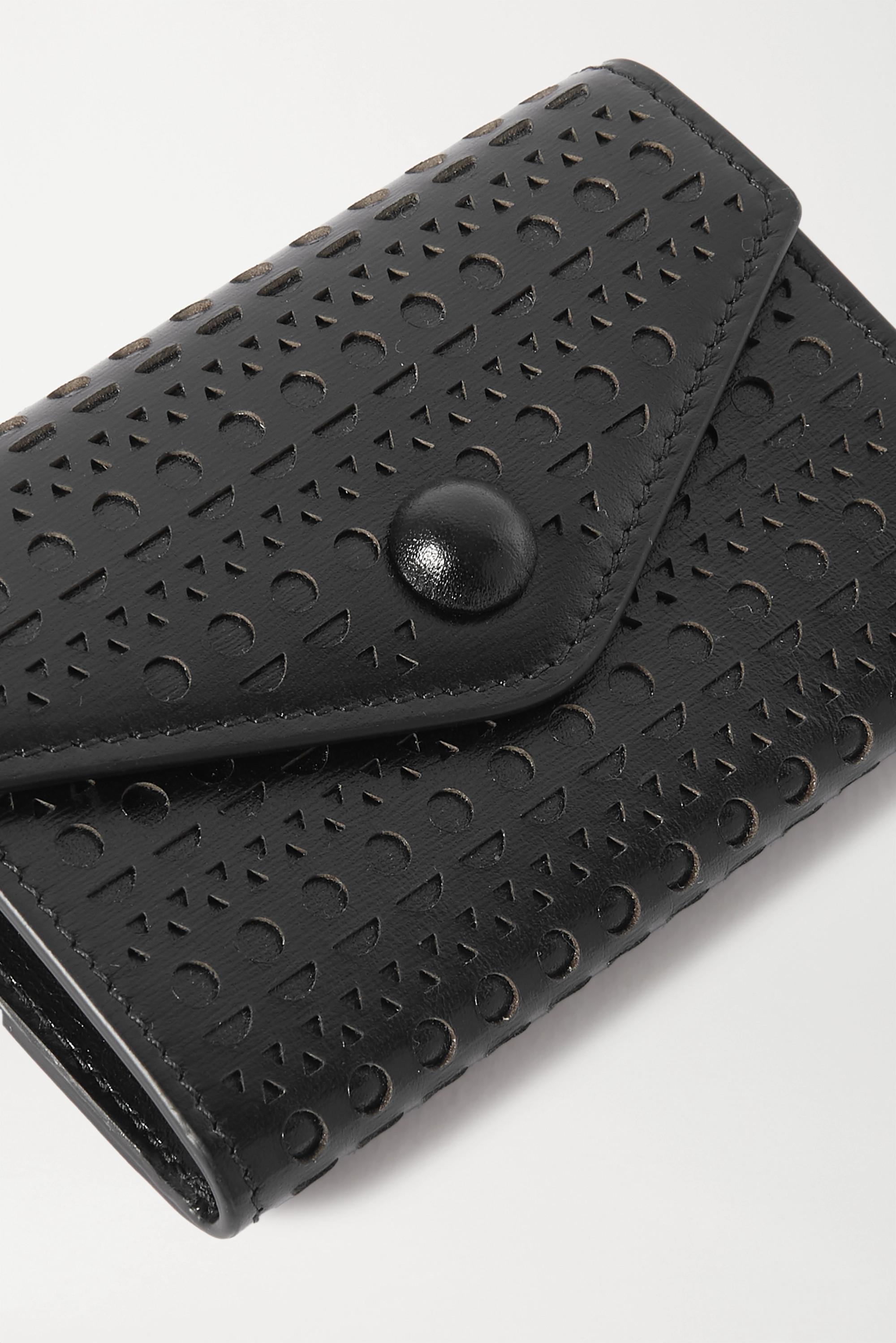 Alaïa Laser-cut leather cardholder