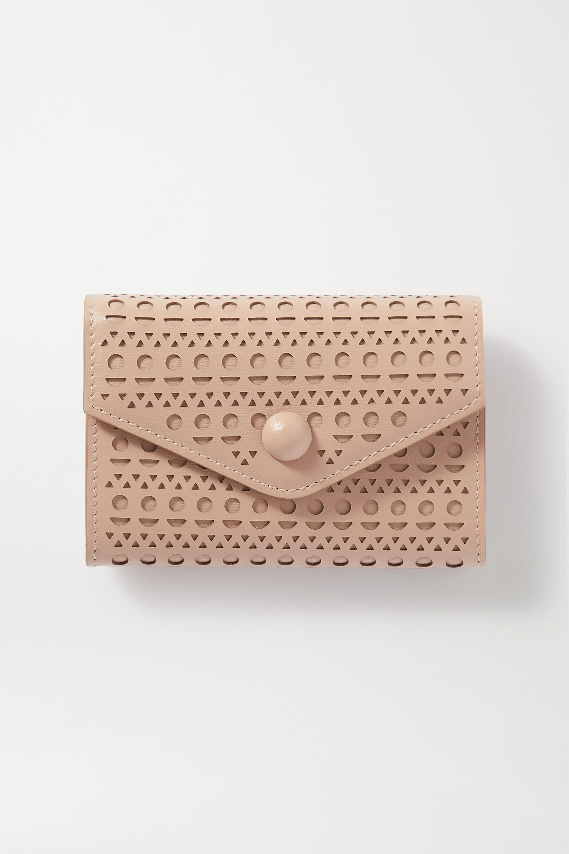 Alaïa Kartenetui aus lasergeschnittenem Leder