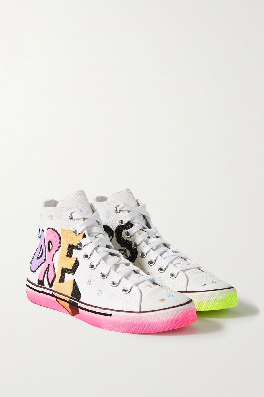 Vetements Printed canvas high-top sneakers