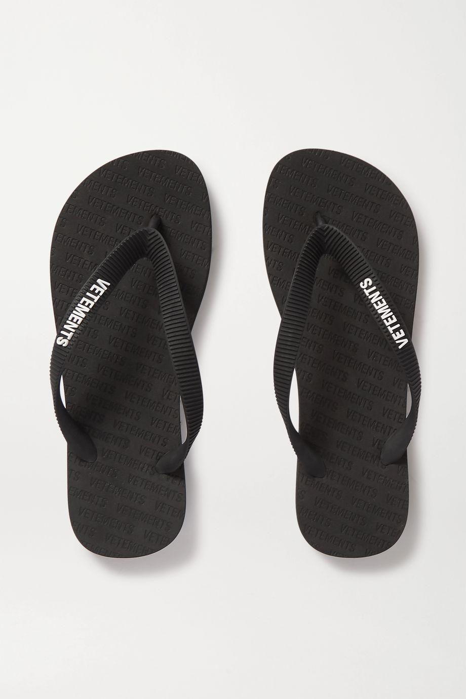 Vetements Logo-embellished rubber flip flops