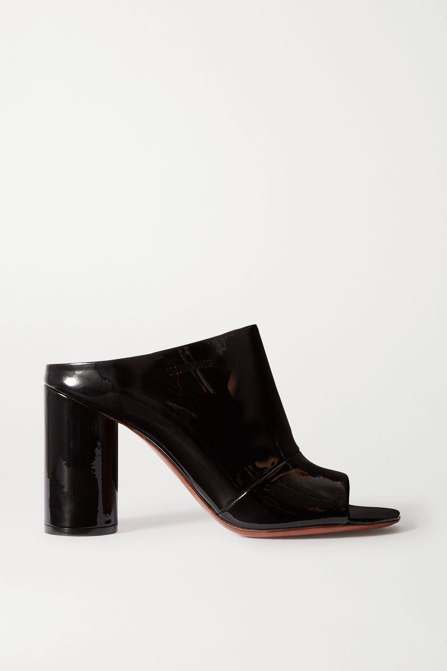 Vetements Patent-leather mules