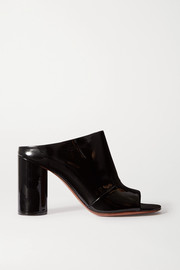 Patent-leather mules