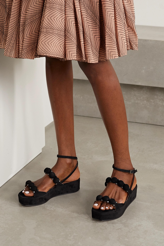 Alaïa Bombe 45 studded suede platform sandals