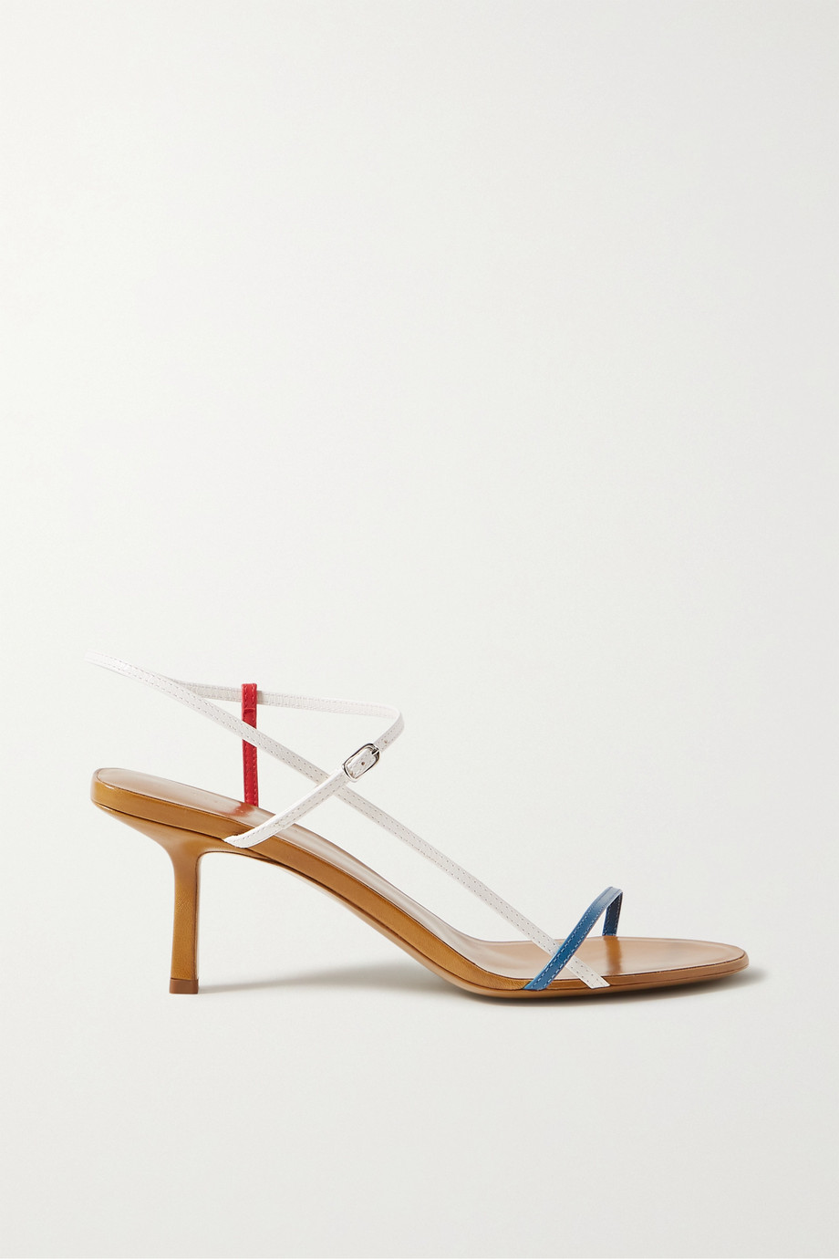 The Row Bare color-block leather sandals