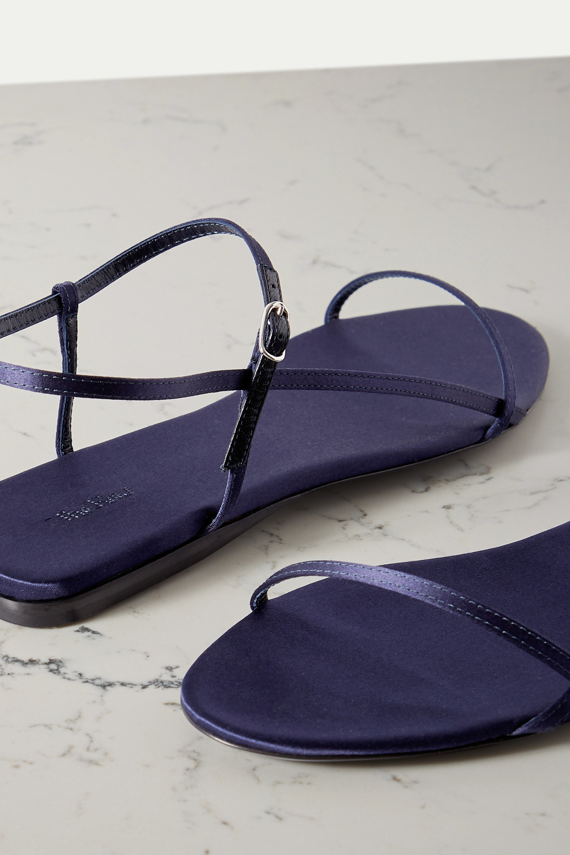 The Row Bare satin sandals