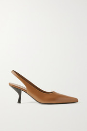 The Row Bourgeoise leather slingback pumps
