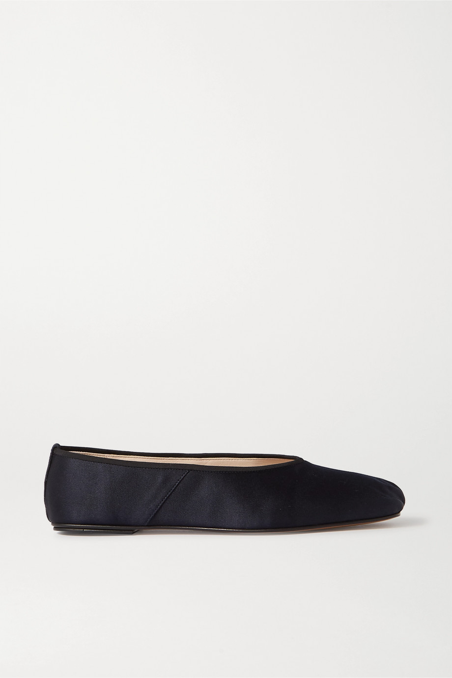 The Row Satin ballet flats