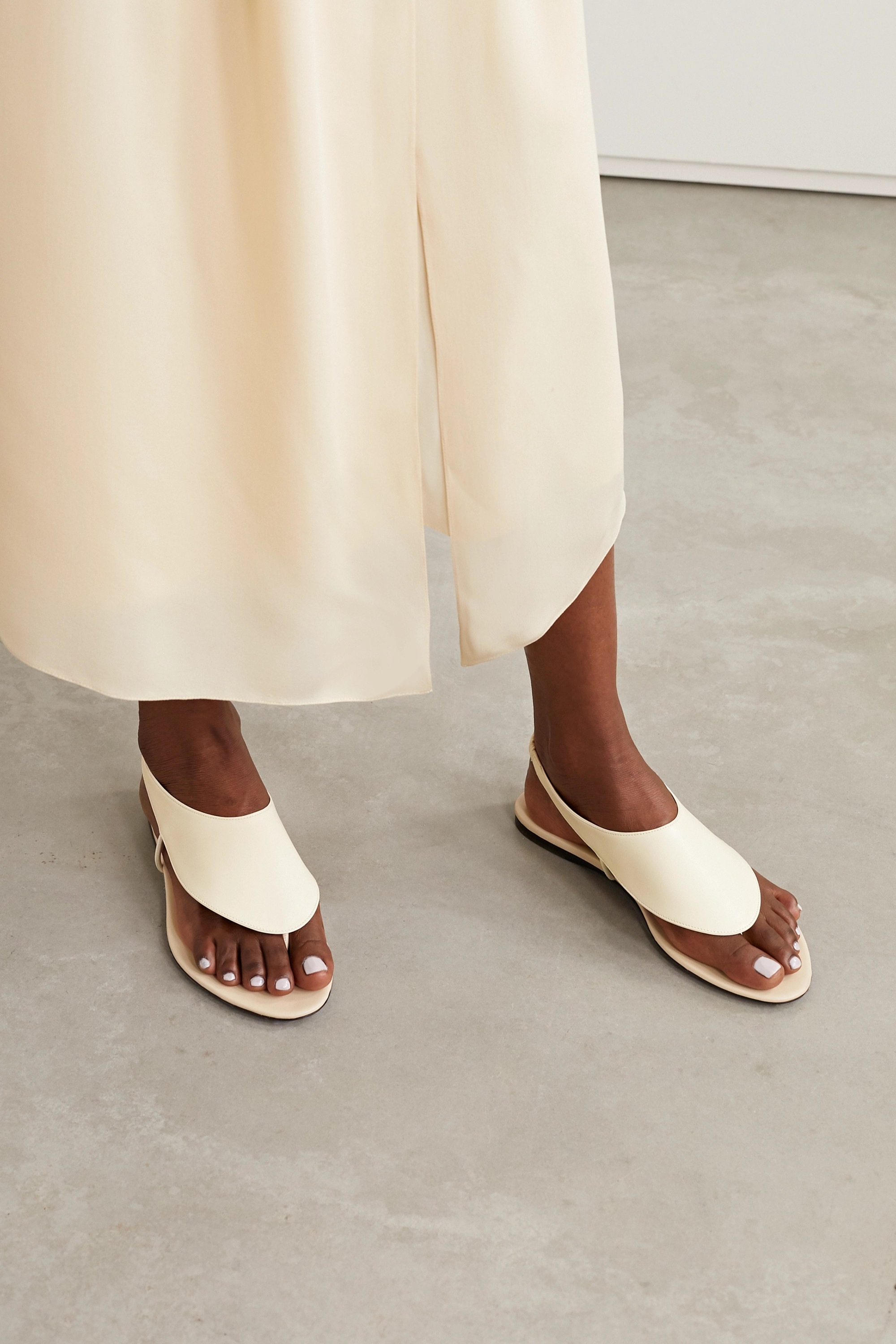 The Row Ravello leather slingback sandals