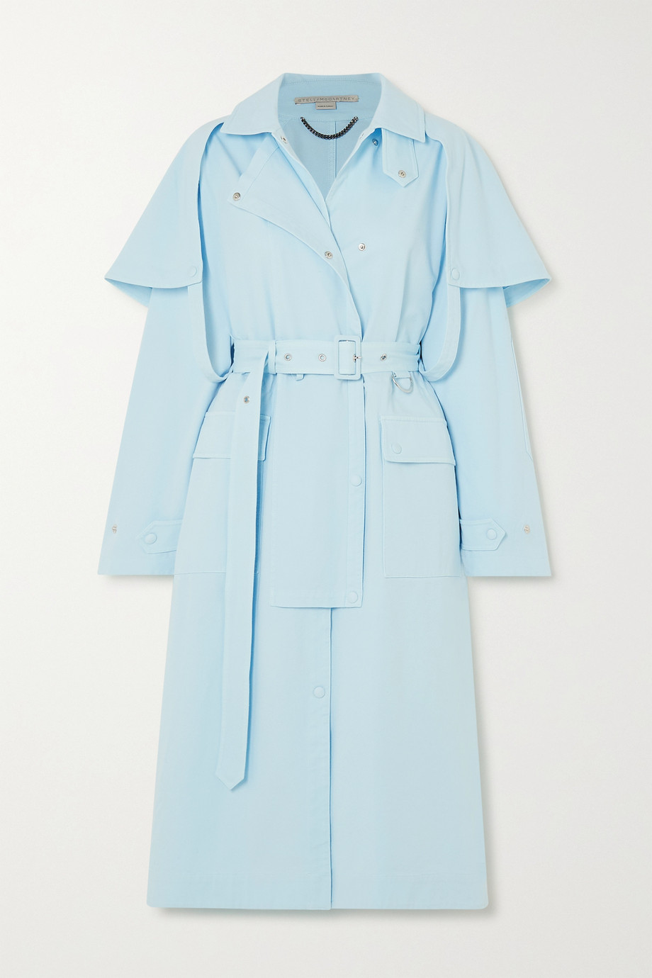 Stella McCartney Cotton-blend twill trench coat