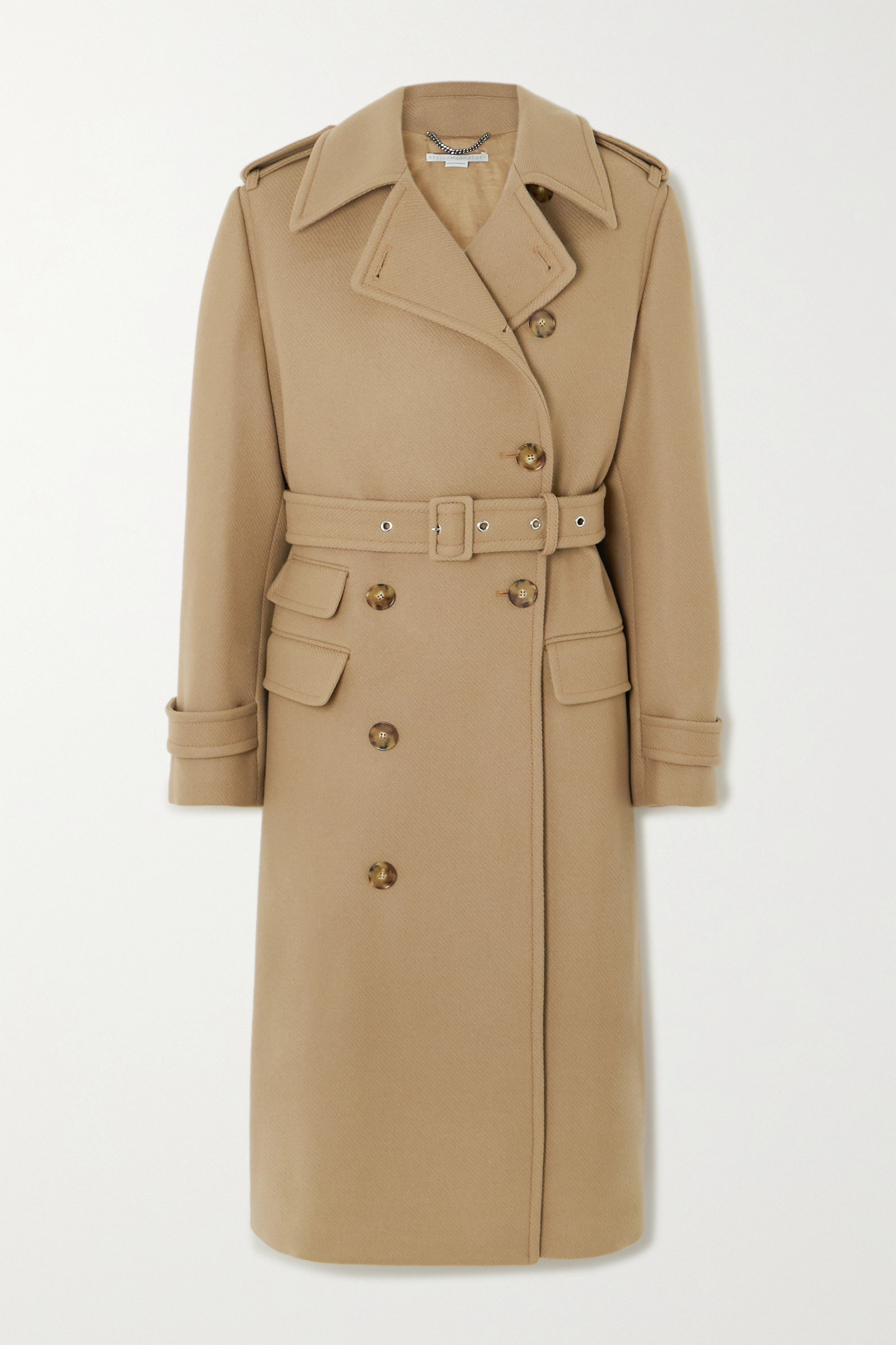 Cream Twill Belted Coat | Topshop