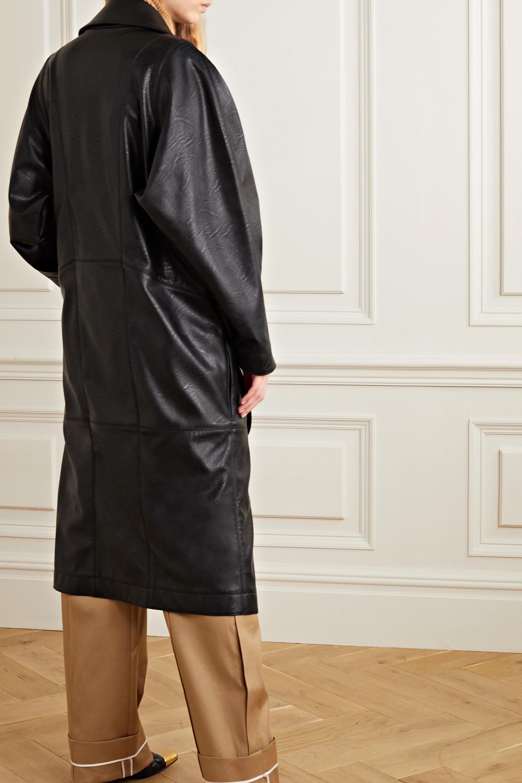 Stella McCartney Belted vegetarian leather coat