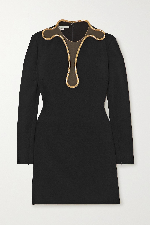 Stella McCartney + NET SUSTAIN Isabela embellished cady and tulle mini dress