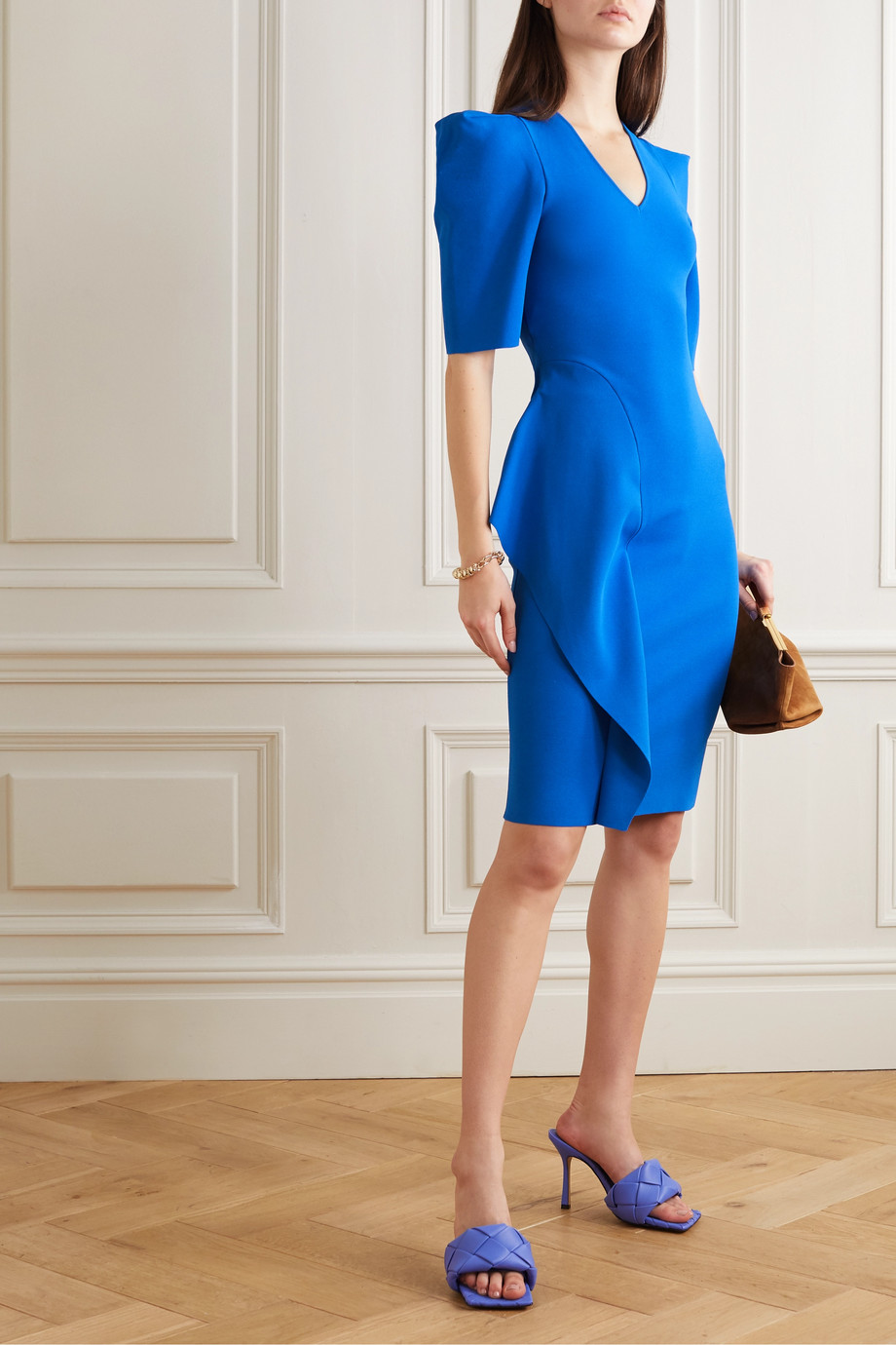 Stella McCartney Ruffled stretch-knit dress