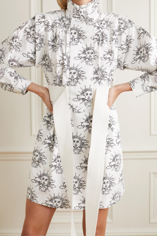 Stella McCartney We Are The Weather printed organic cotton-poplin mini shirt dress
