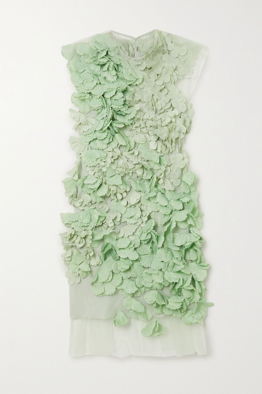 Stella McCartney Appliquéd tulle mini dress