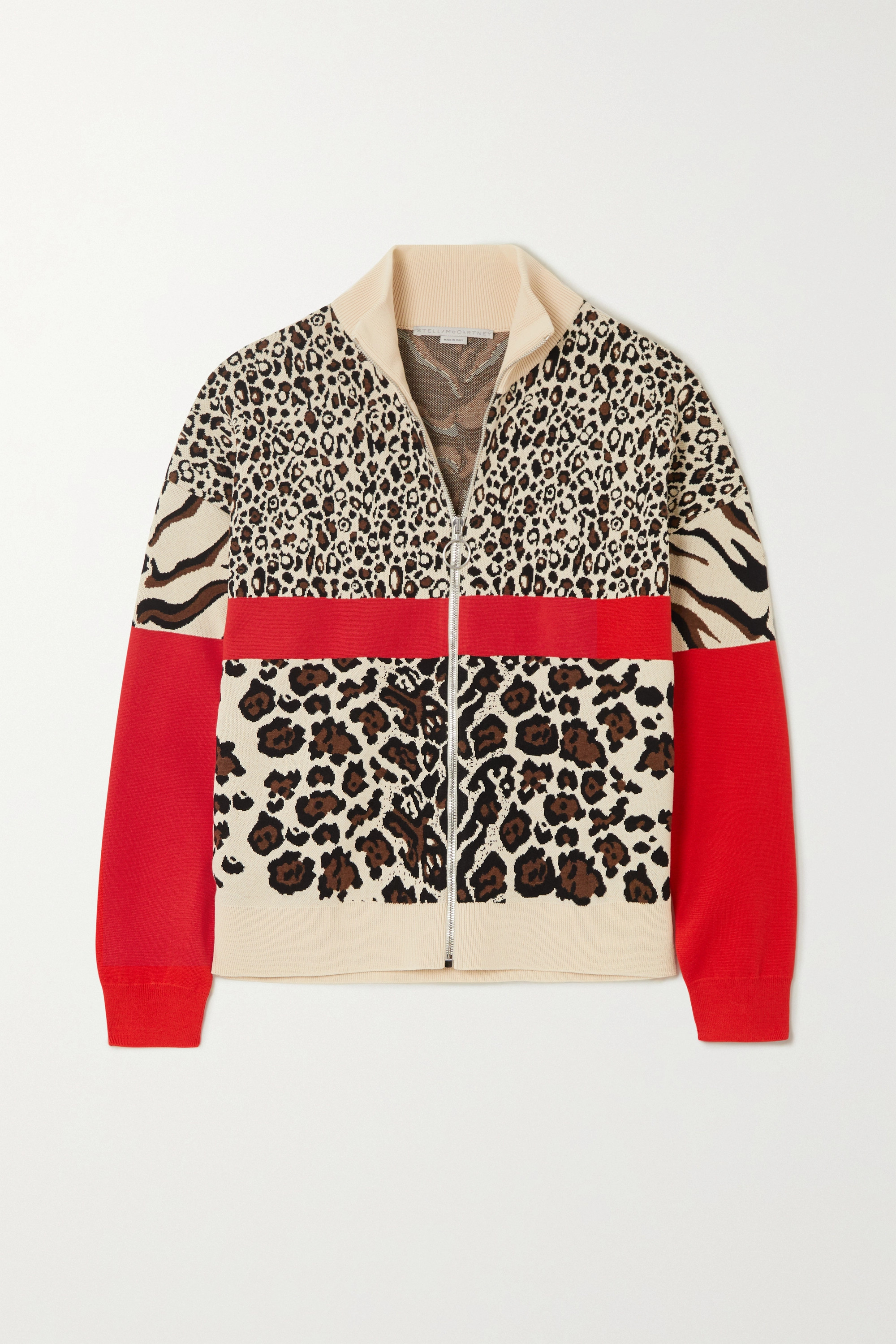 Stella McCartney Intarsia knitted track jacket