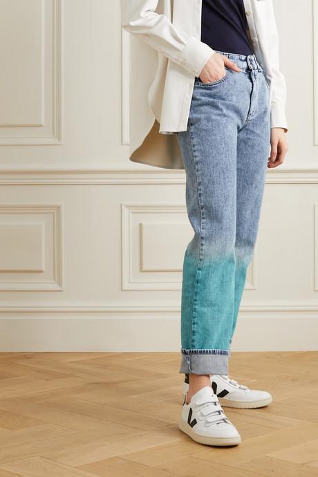 Dégradé mid-rise straight-leg jeans