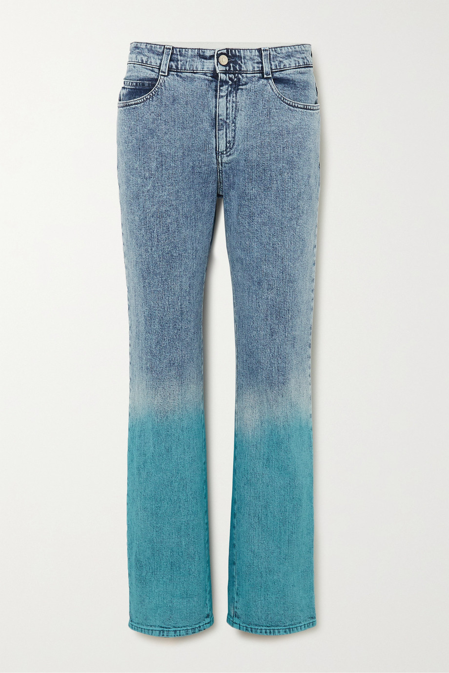 Stella McCartney Dégradé mid-rise straight-leg jeans